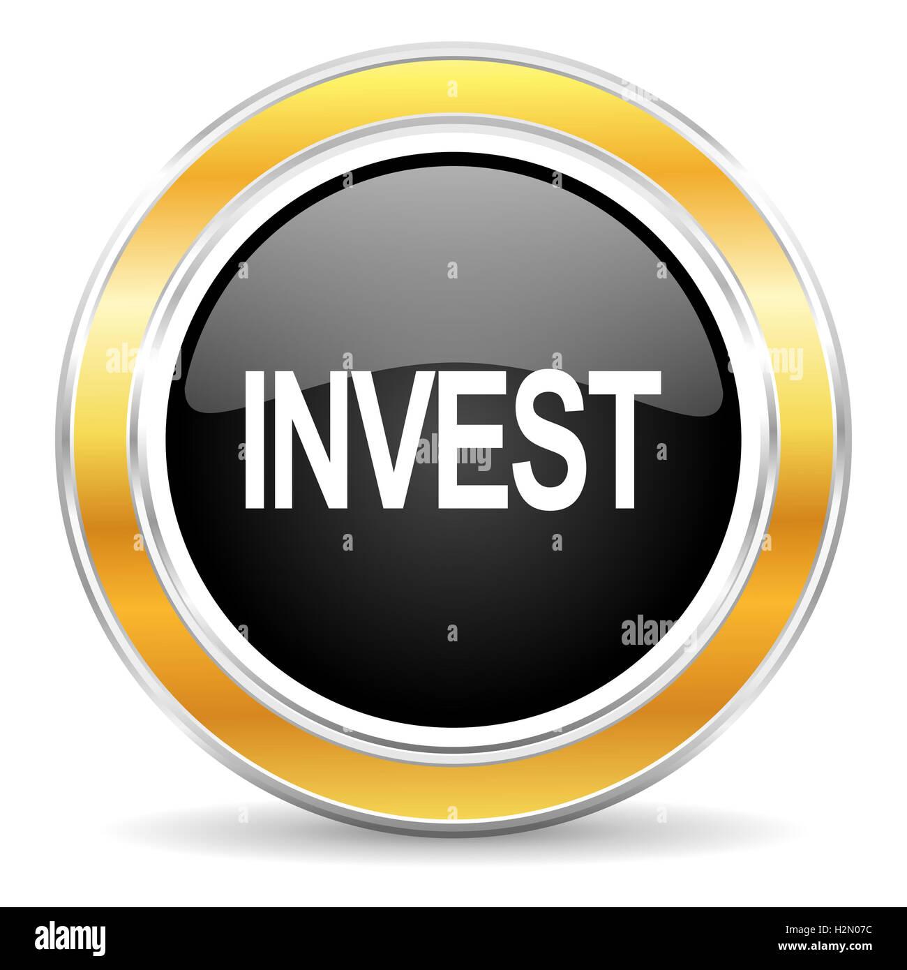 invest icon - Stock Image