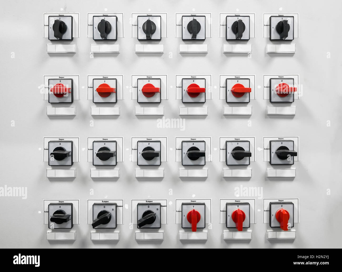 Industrial electrical switch panel Stock Photo: 122165222 - Alamy