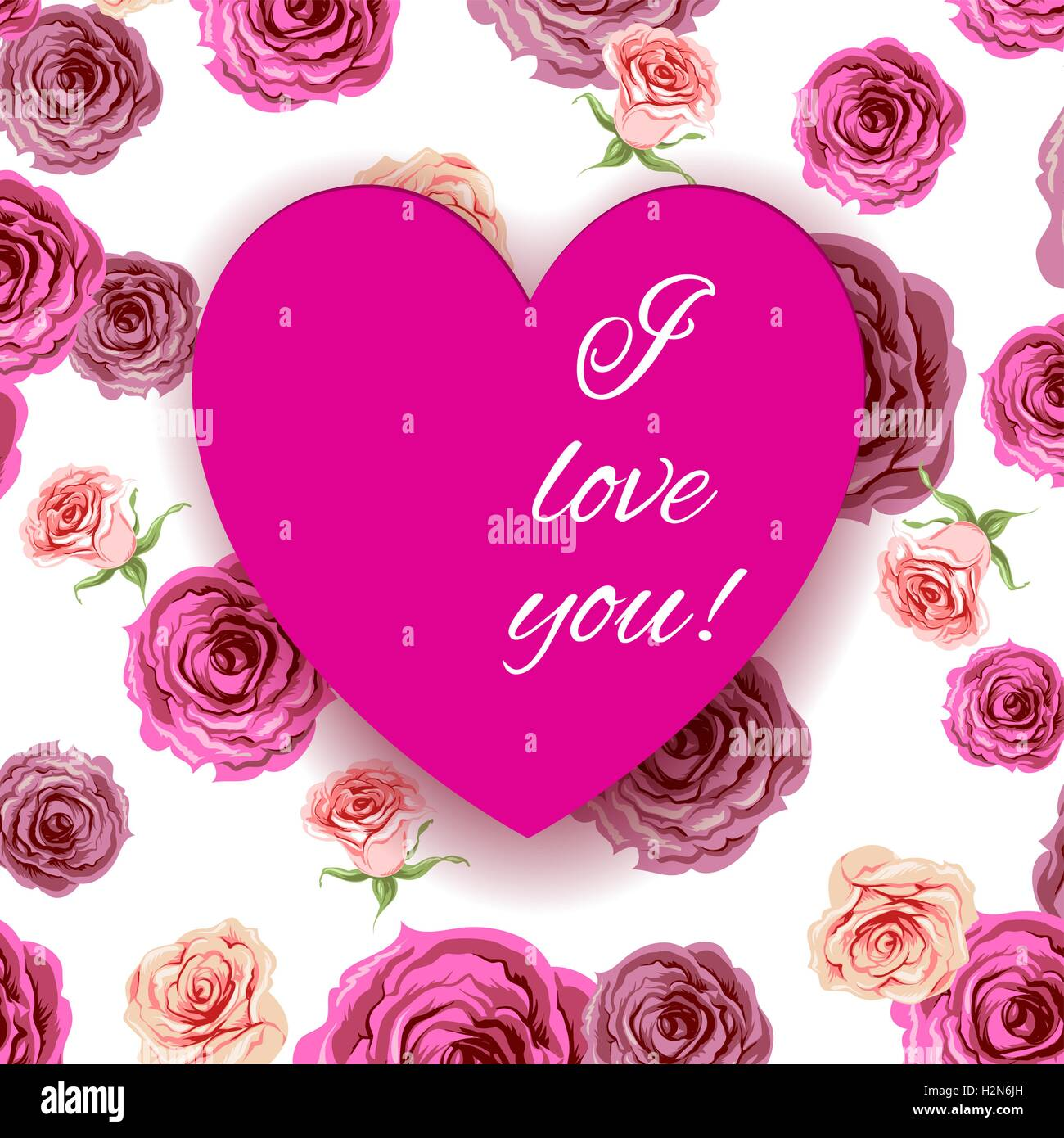 I love you background - Stock Vector
