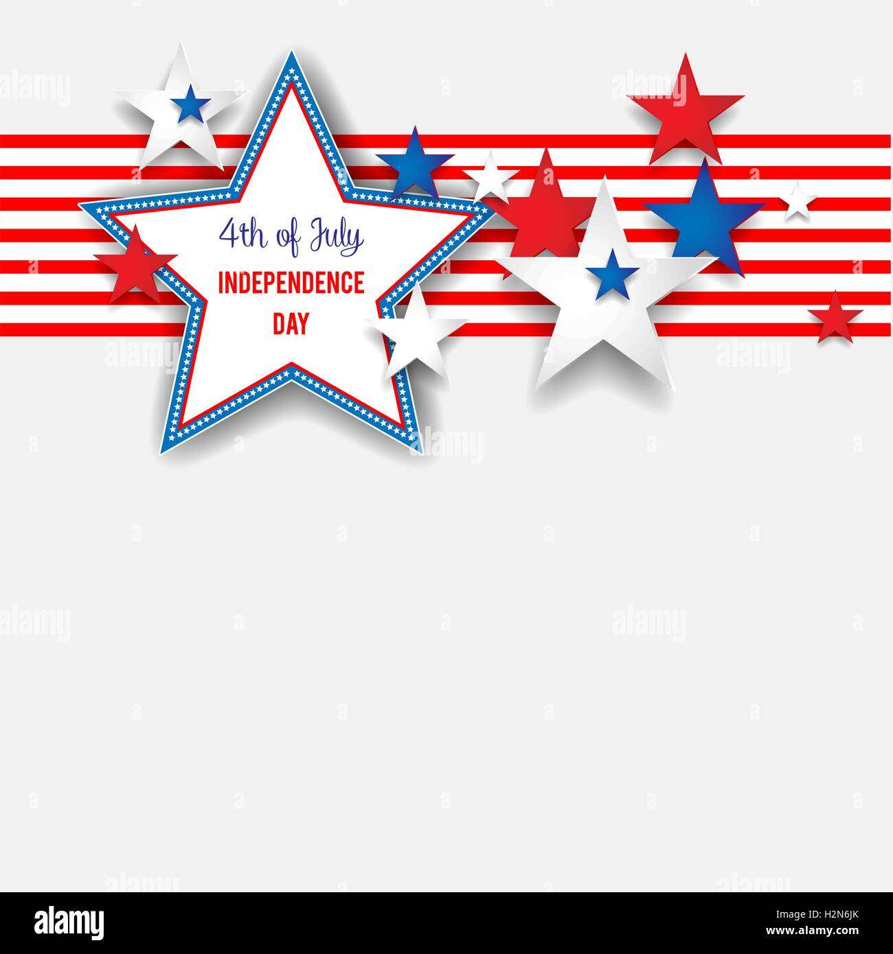 Independence day background with stars - Stock Vector