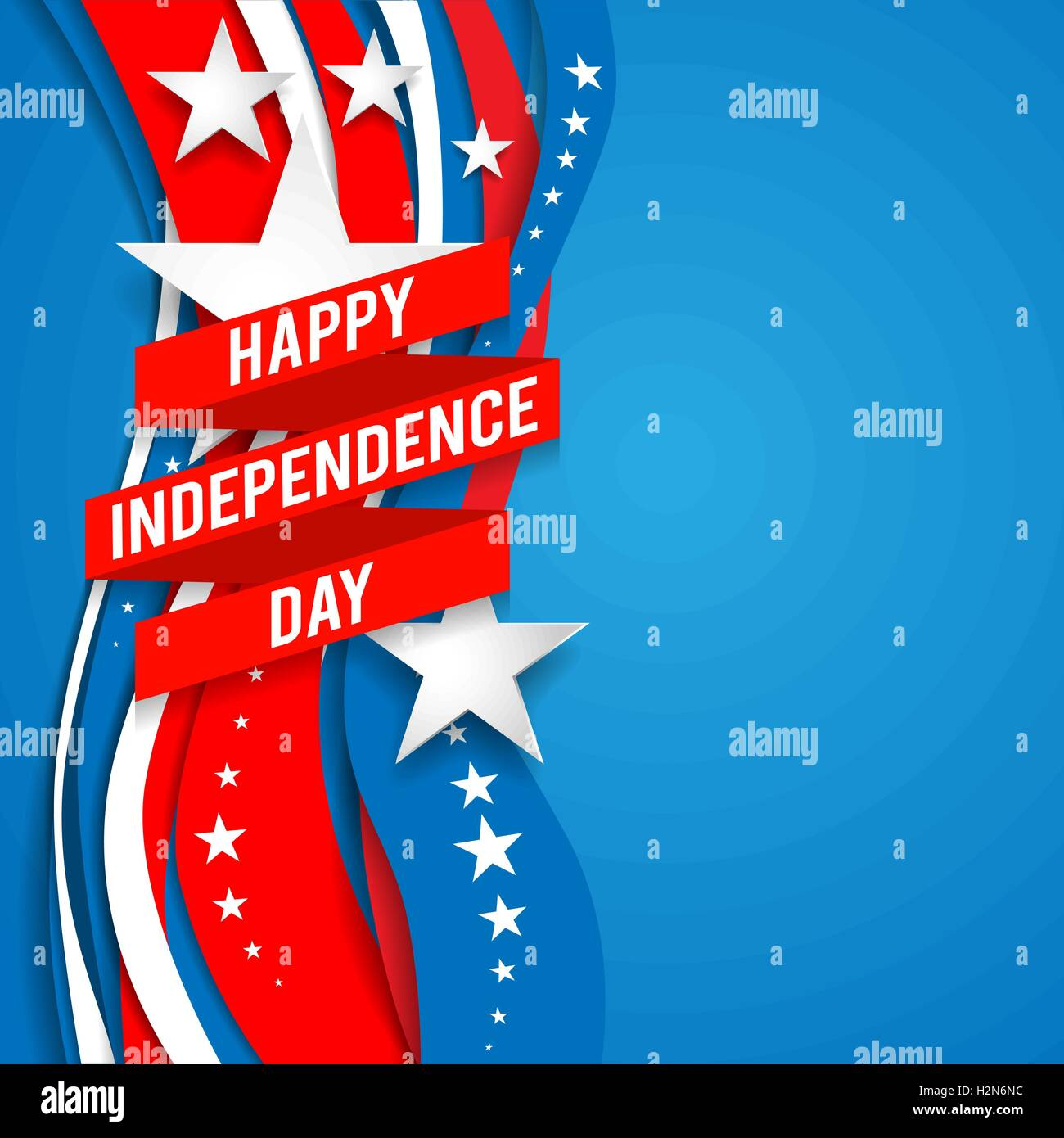 Patriotic background with stars - Stock Vector