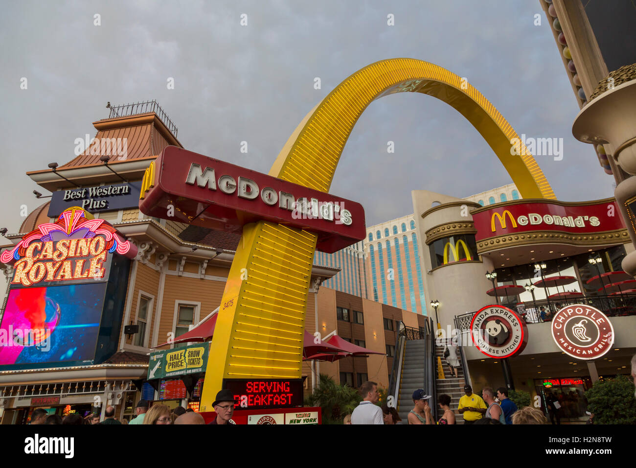 Las Vegas, Nevada - A McDonald's restaurant on the Strip. - Stock Image