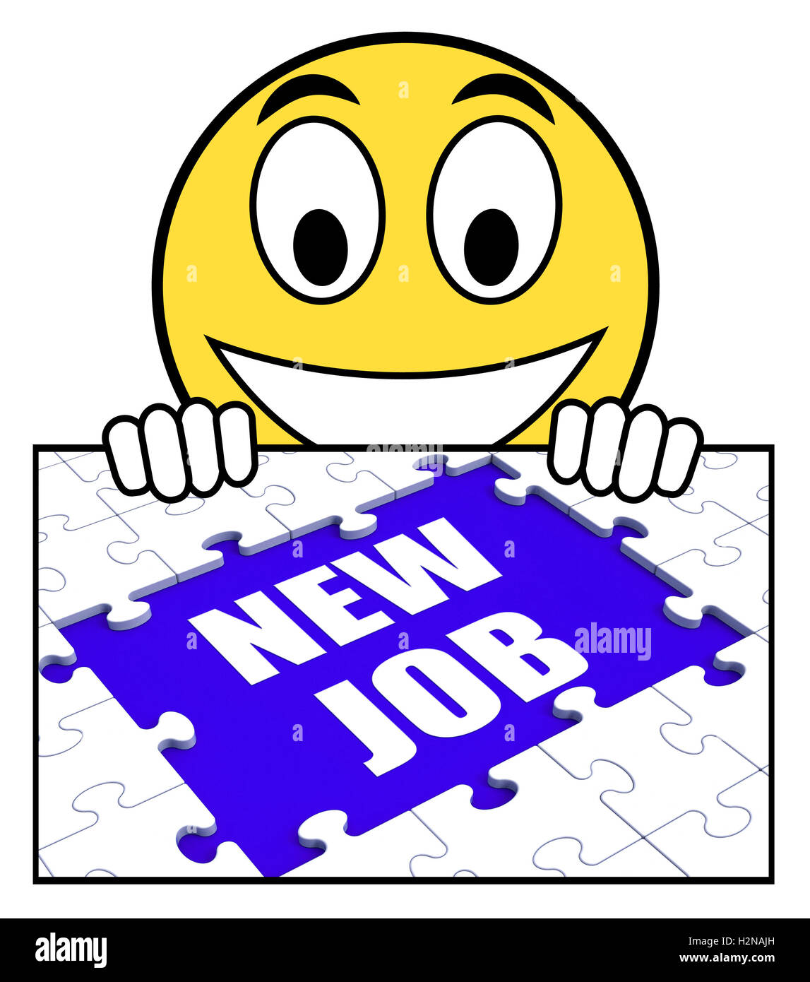 New Job Sign Meaning Different Workplace Or Occupation Stock