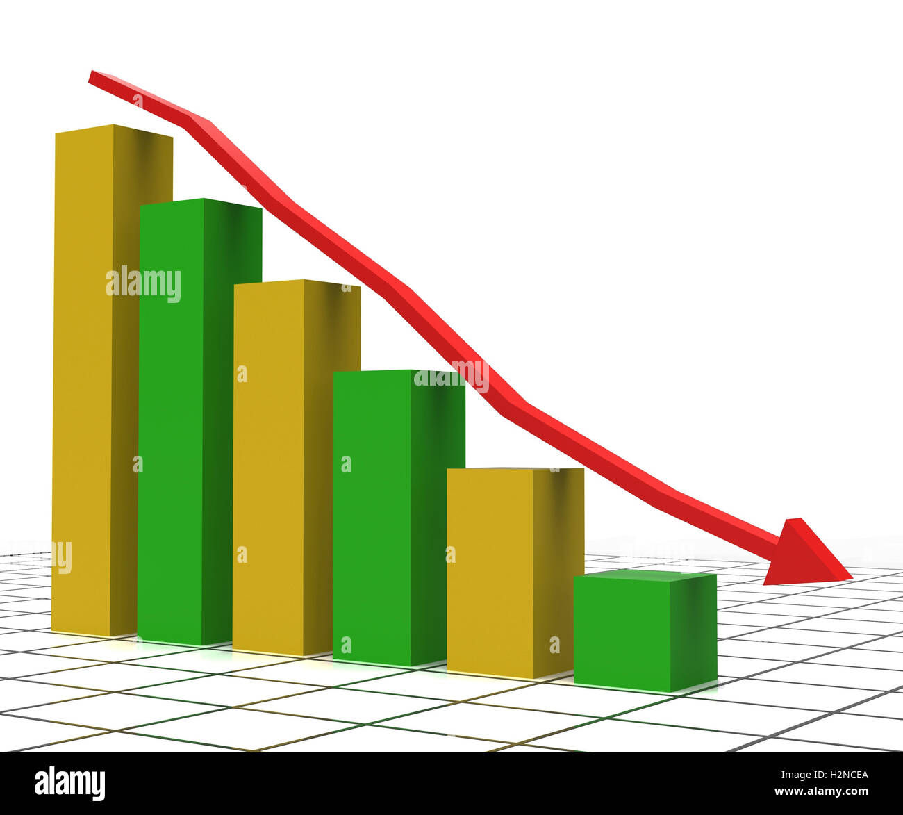 Decreasing Report Meaning Graphic Statistics And Trend Stock Photo Alamy