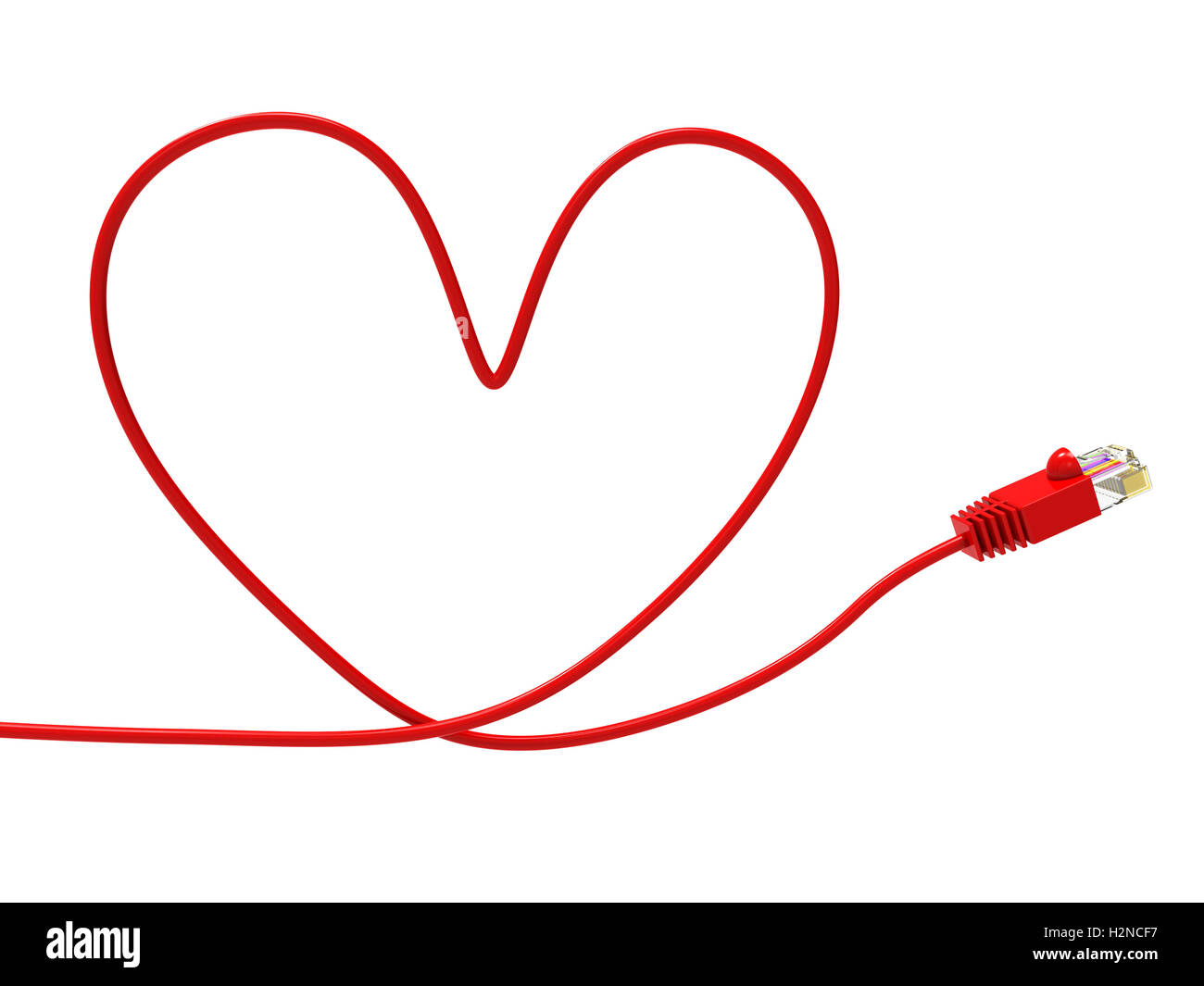 Love Internet Meaning World Wide Web And Valentine Day Stock Photo