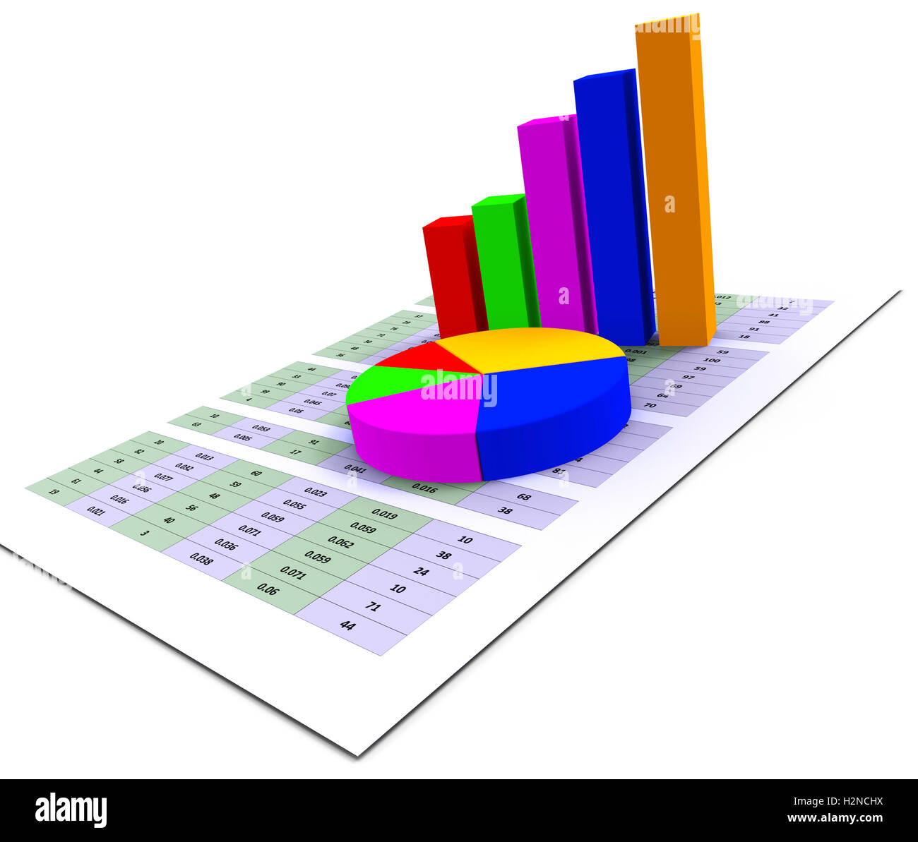 Pie Chart Meaning Business Graph And Forecast Stock Photo Alamy