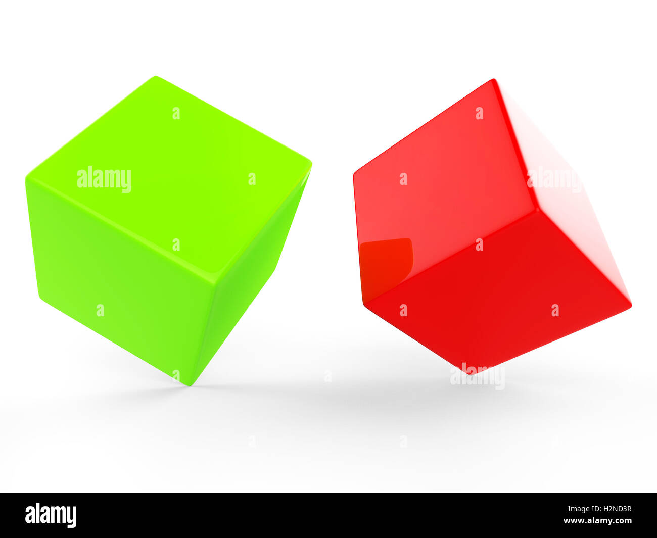 Dice Blocks Indicating Empty Space And Blank - Stock Image