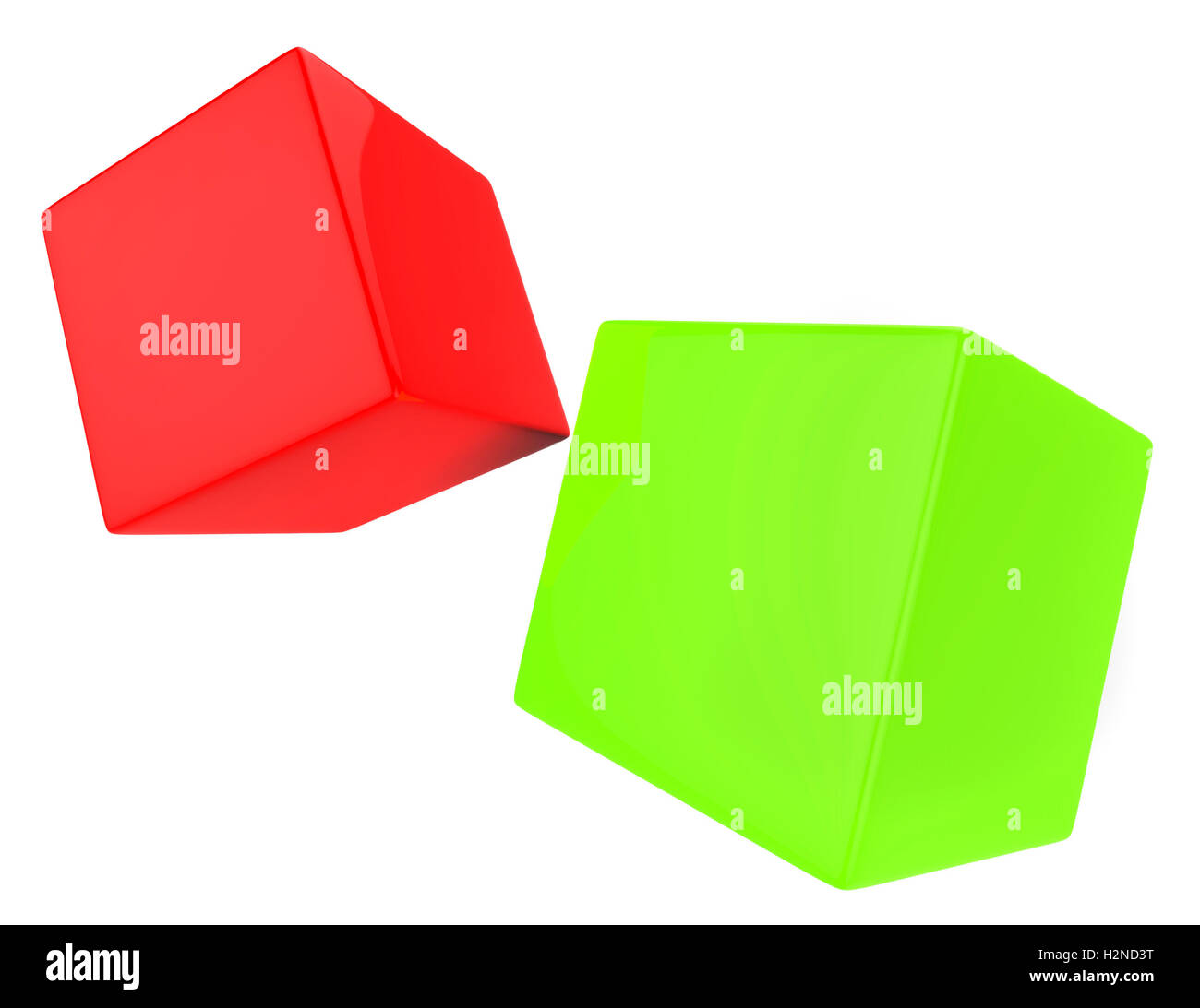 Dice Blocks Showing Text Space And Wager - Stock Image