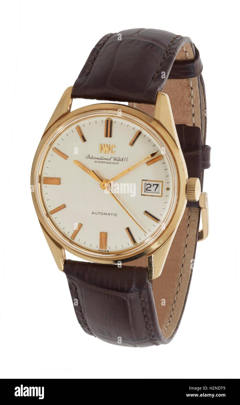 Mans IWC watch - Stock Image