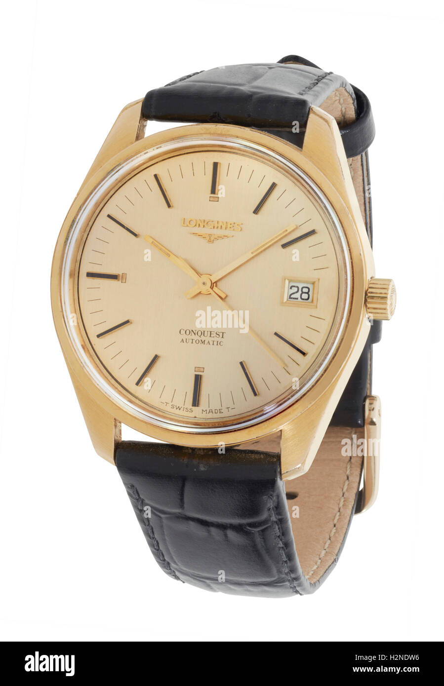 Mans Longine watch Stock Photo