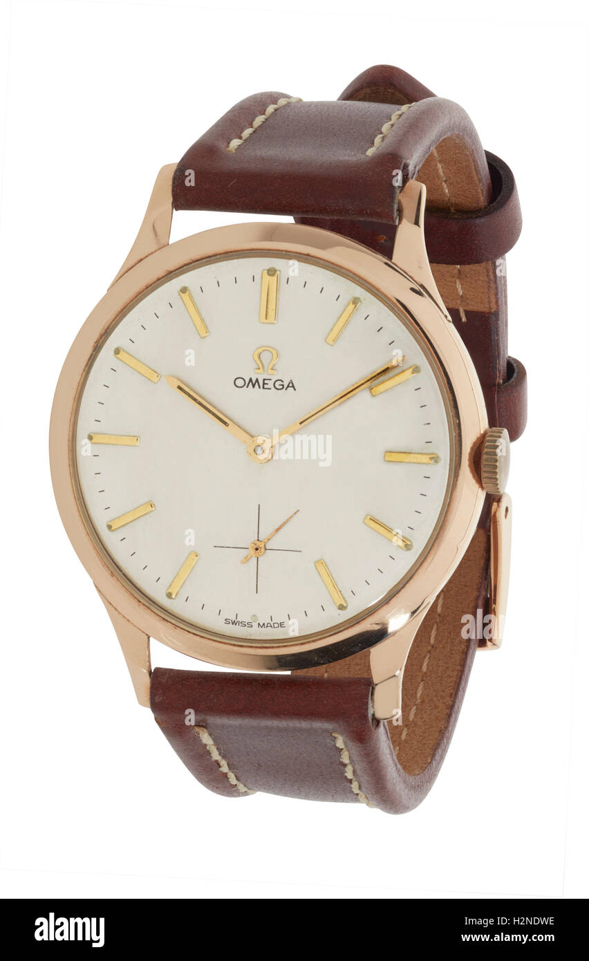 Mans Omega watch - Stock Image