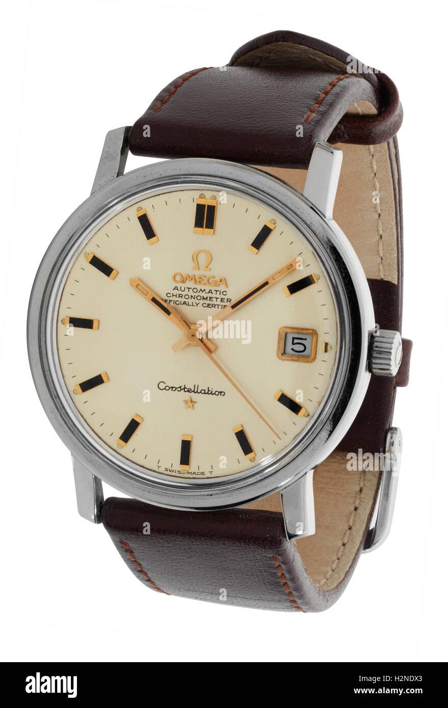 Man's Omega watch - Stock Image