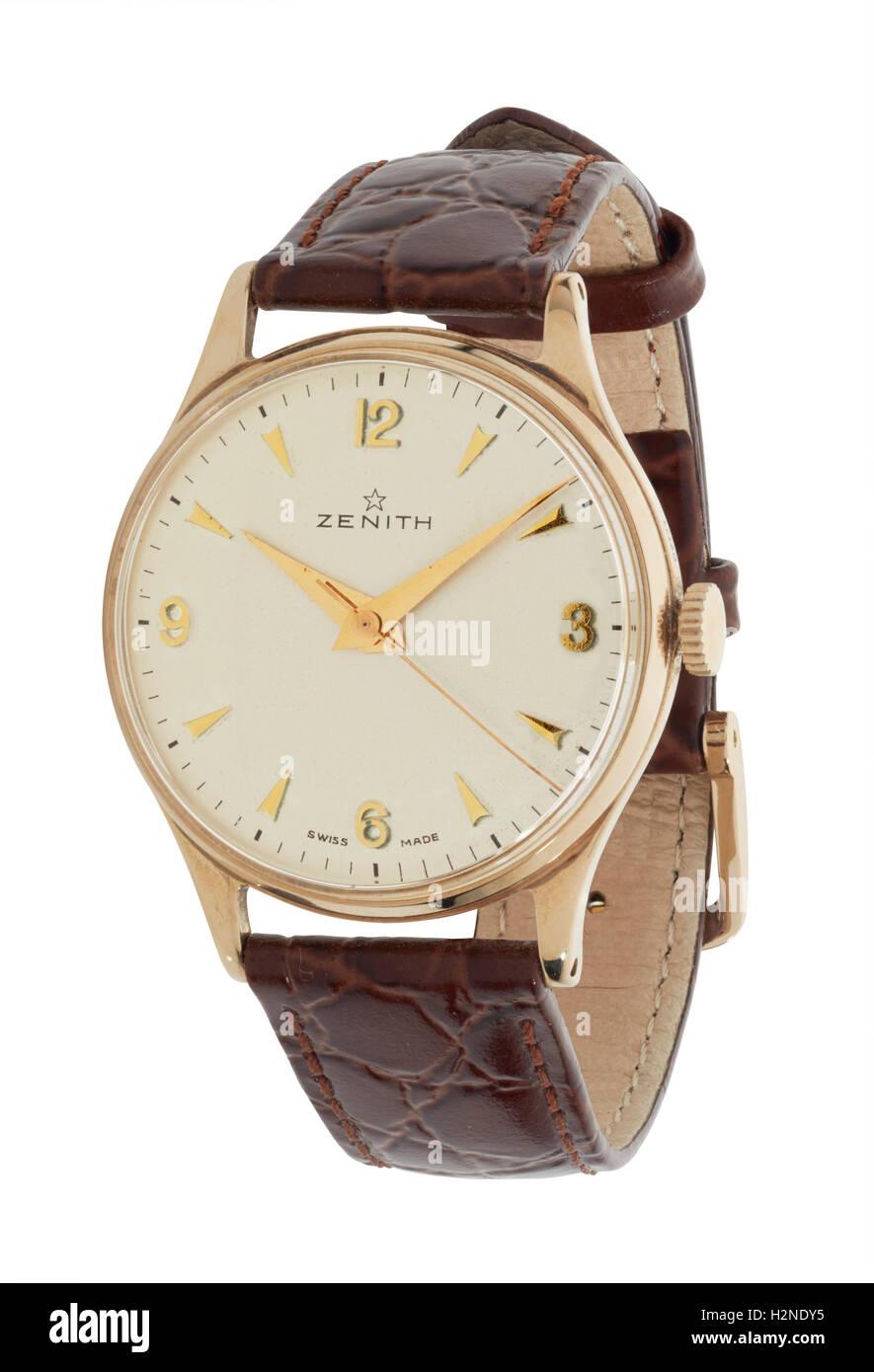 Mans Zenith watch - Stock Image
