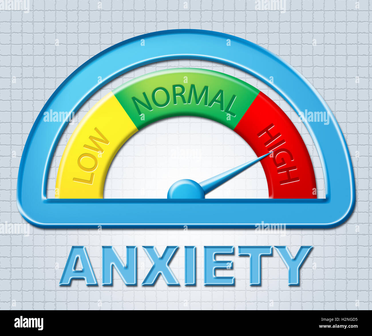 High Anxiety Indicating Max Stress And Fear Stock Photo