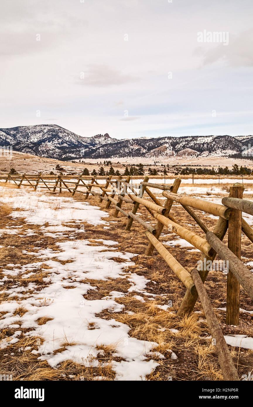 Sleeping Giant landmark in Montana - Stock Image