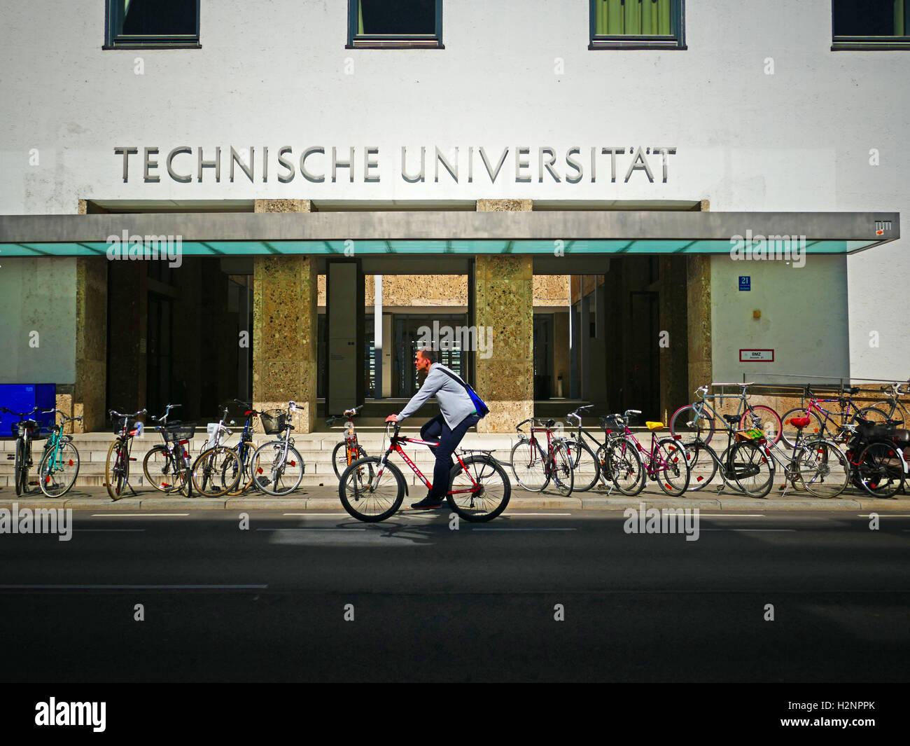 Europe Germany Munich Technical University Munich Stock Photo