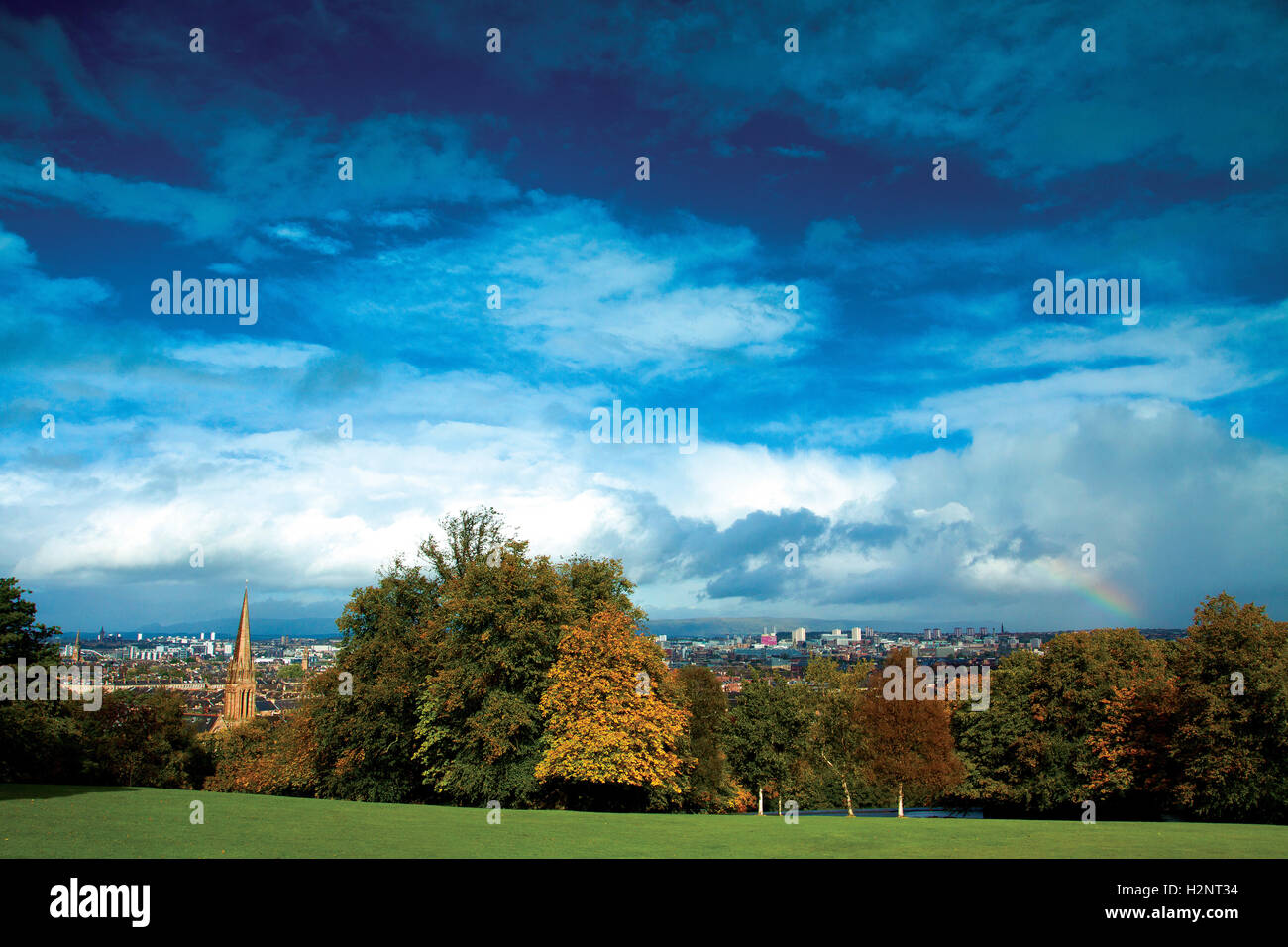Glasgow from Queen's Park, Glasgow - Stock Image