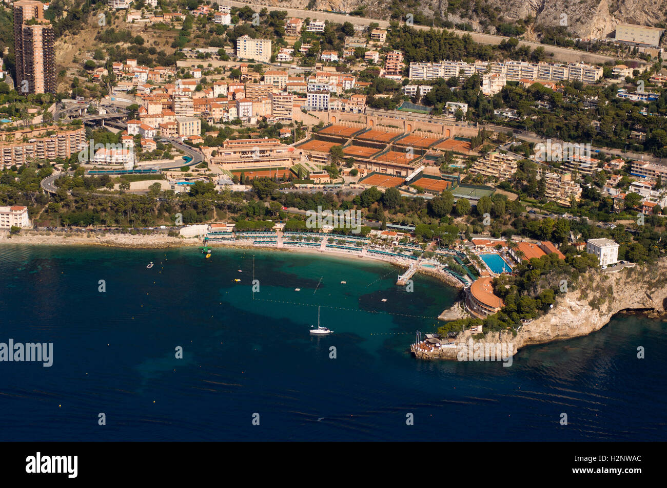 Aerial View Monte Carlo Beach Club And Tennis Club Monaco Cote Stock Photo Alamy