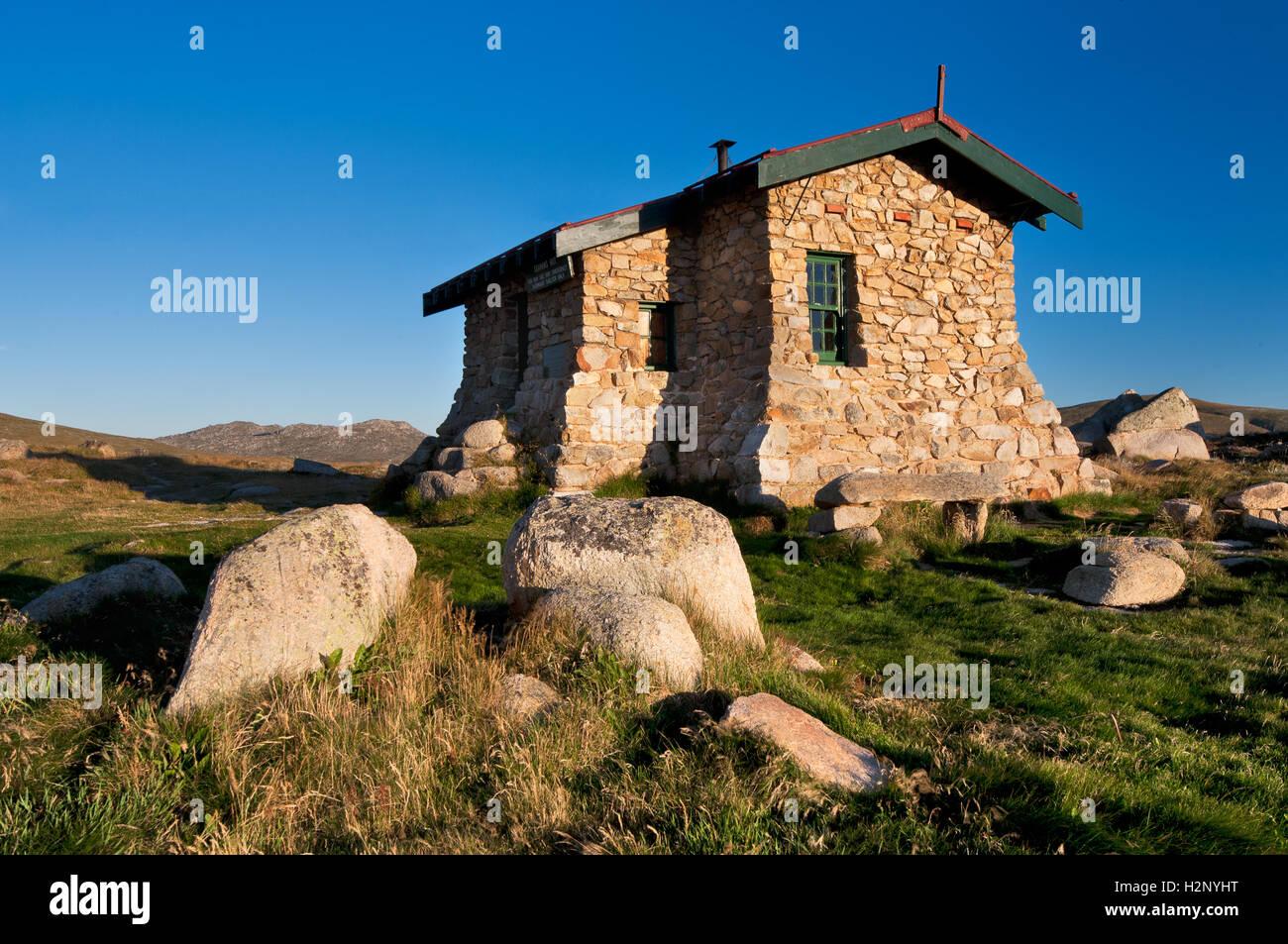 Seaman's Hut in Kosciuszko national Park. - Stock Image