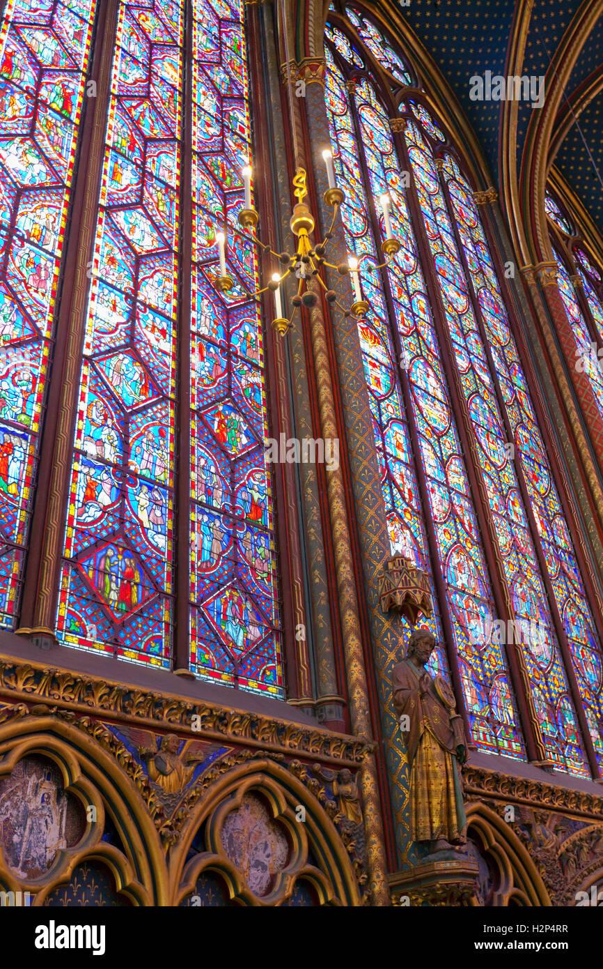 Interior Of La Sainte Chapelle Paris
