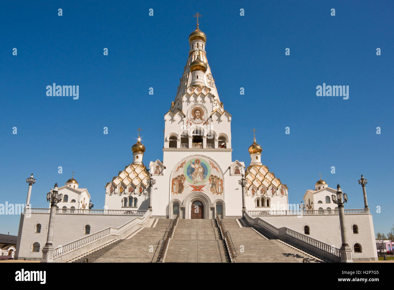 All saints church in Minsk, Belarus Stock Photo