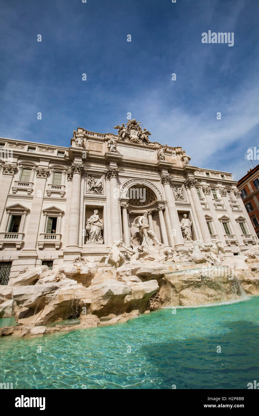 View at Trevi Fountain in Rome, Italy - Stock Image