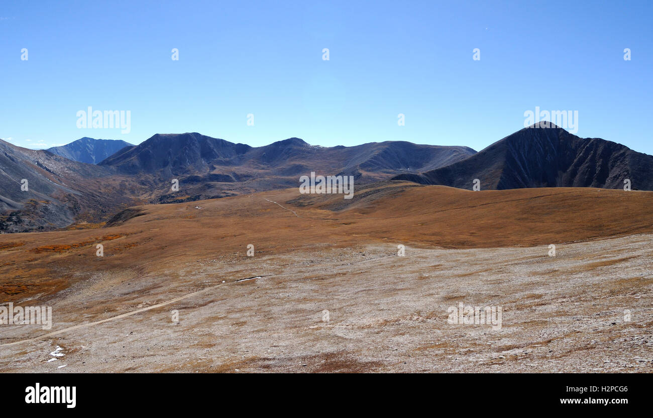 The high country above treeline in Chaffee County, Colorado near Mount Antero in the Sawatch Range - Stock Image
