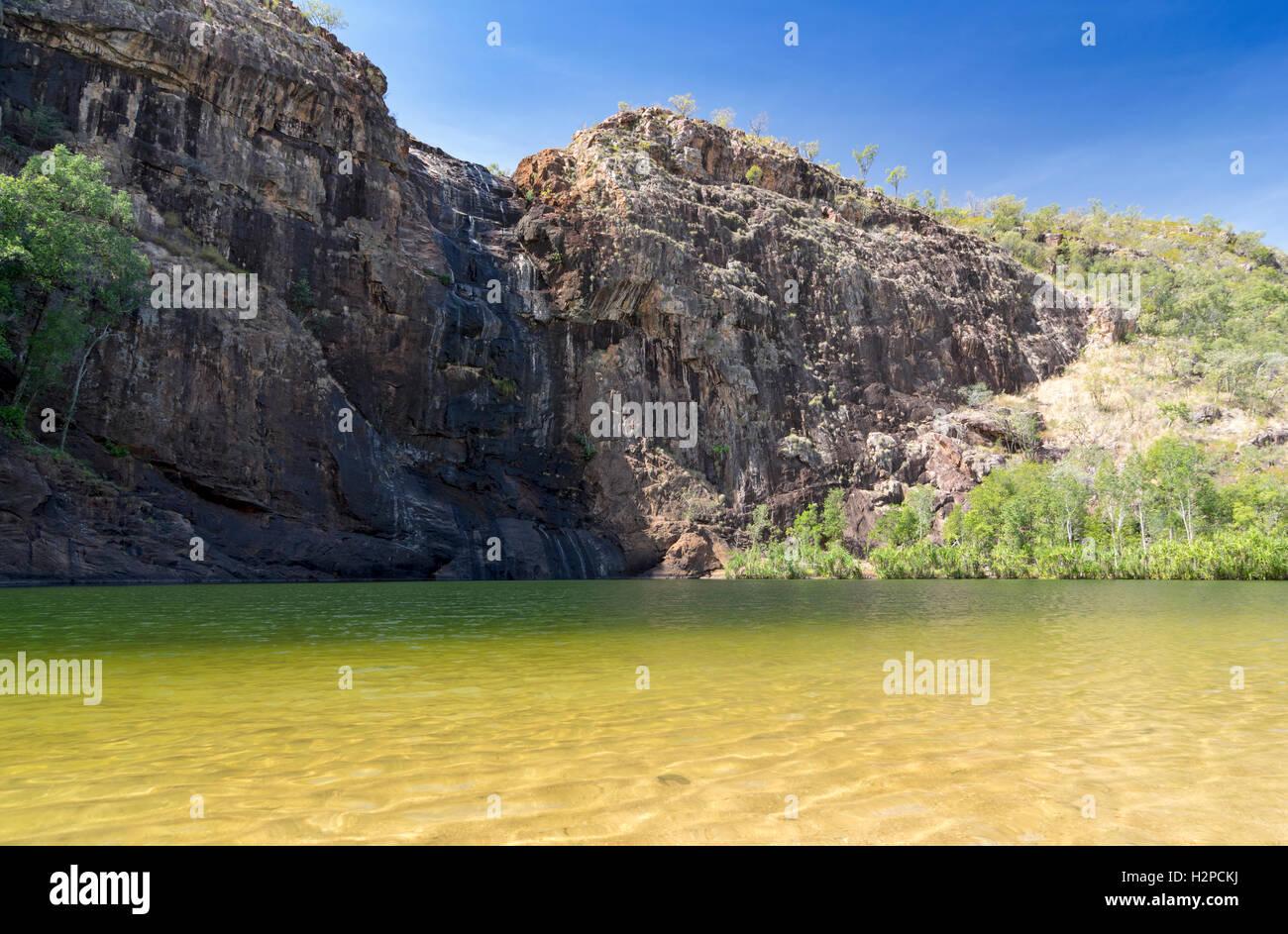 Gunlom Billabong in the Kakadu National Park, Northern Territory, Australia. - Stock Image