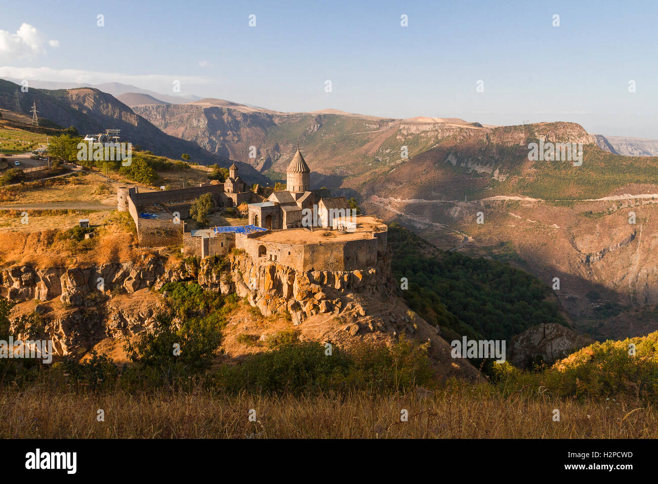 Monastery of Tatev in Armenia. - Stock Image