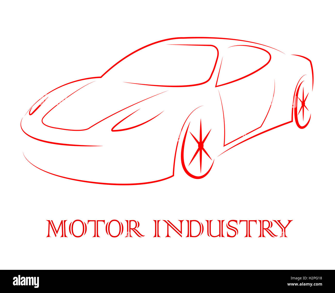Motor Industry Representing Industries Manufacture And Automobile - Stock Image