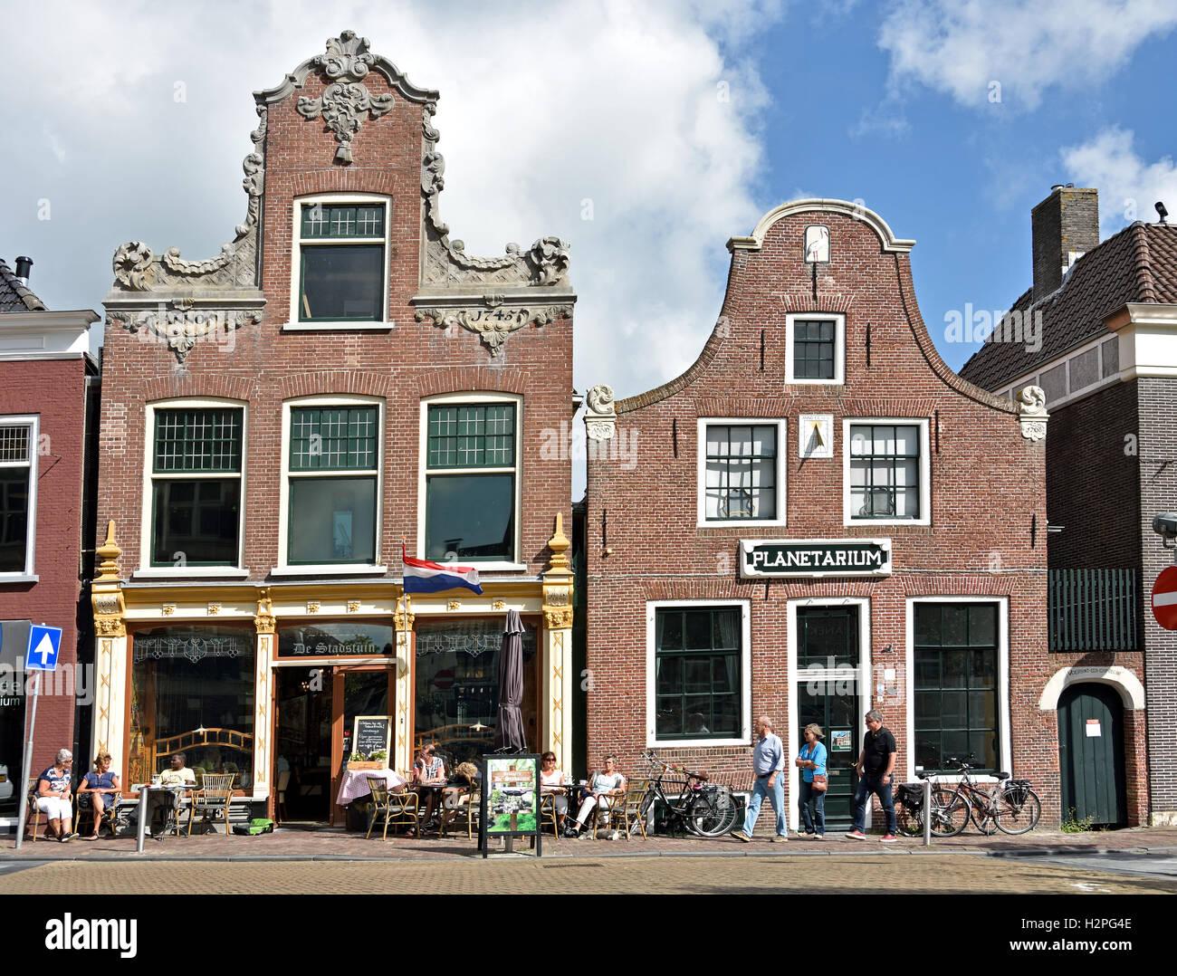The Royal Eise Eisinga Planetarium 17th Century  ( Brasserie De Stadstuin )  Franeker Friesland Netherlands - Stock Image