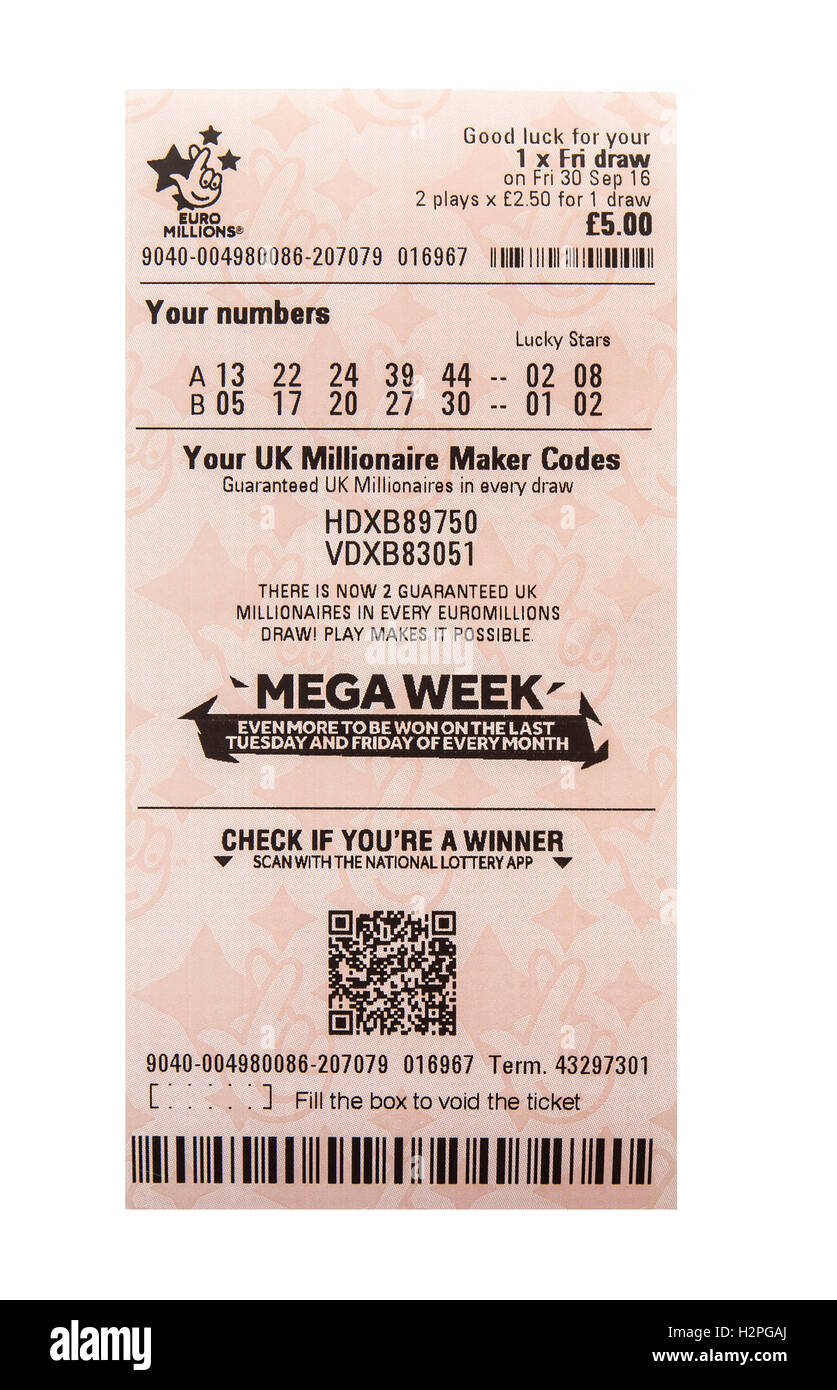 Lottery Ticket Stock Photos & Lottery Ticket Stock Images