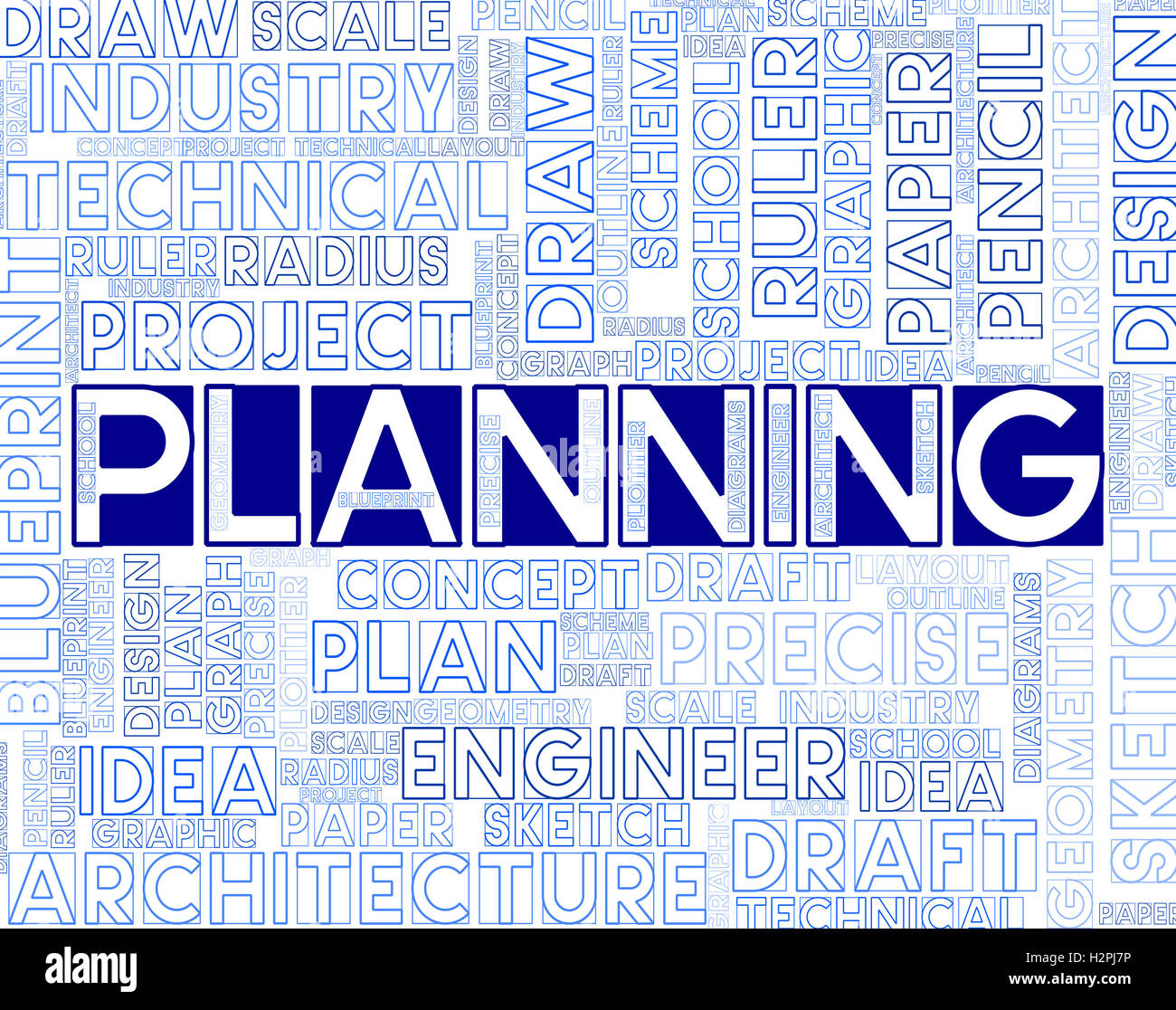 Planning words meaning organize organization stock photos planning planning words meaning organizing objectives and mission stock image malvernweather Gallery