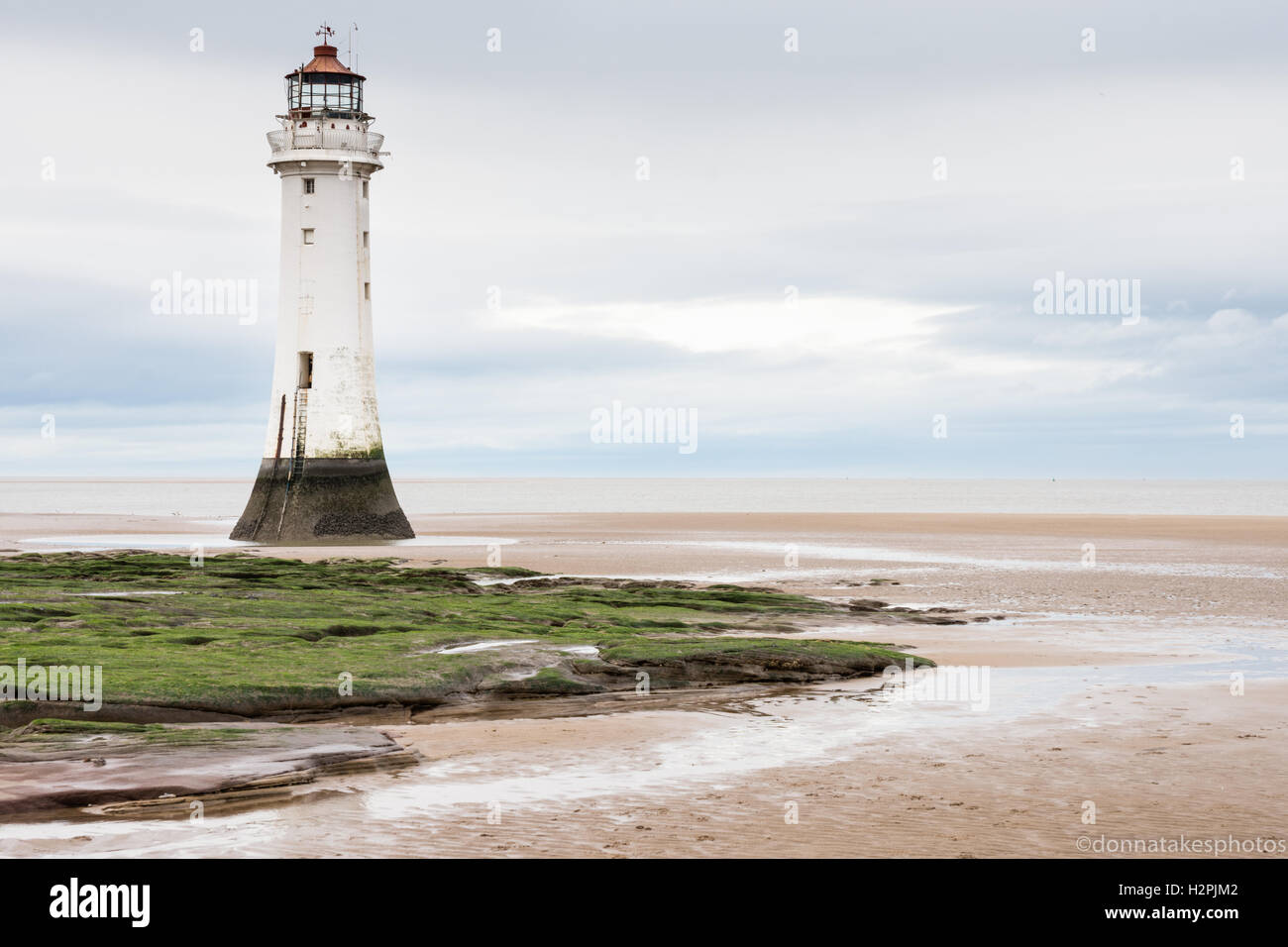 New Brighton Lighthouse Or Perch Rock Lighthouse Is A