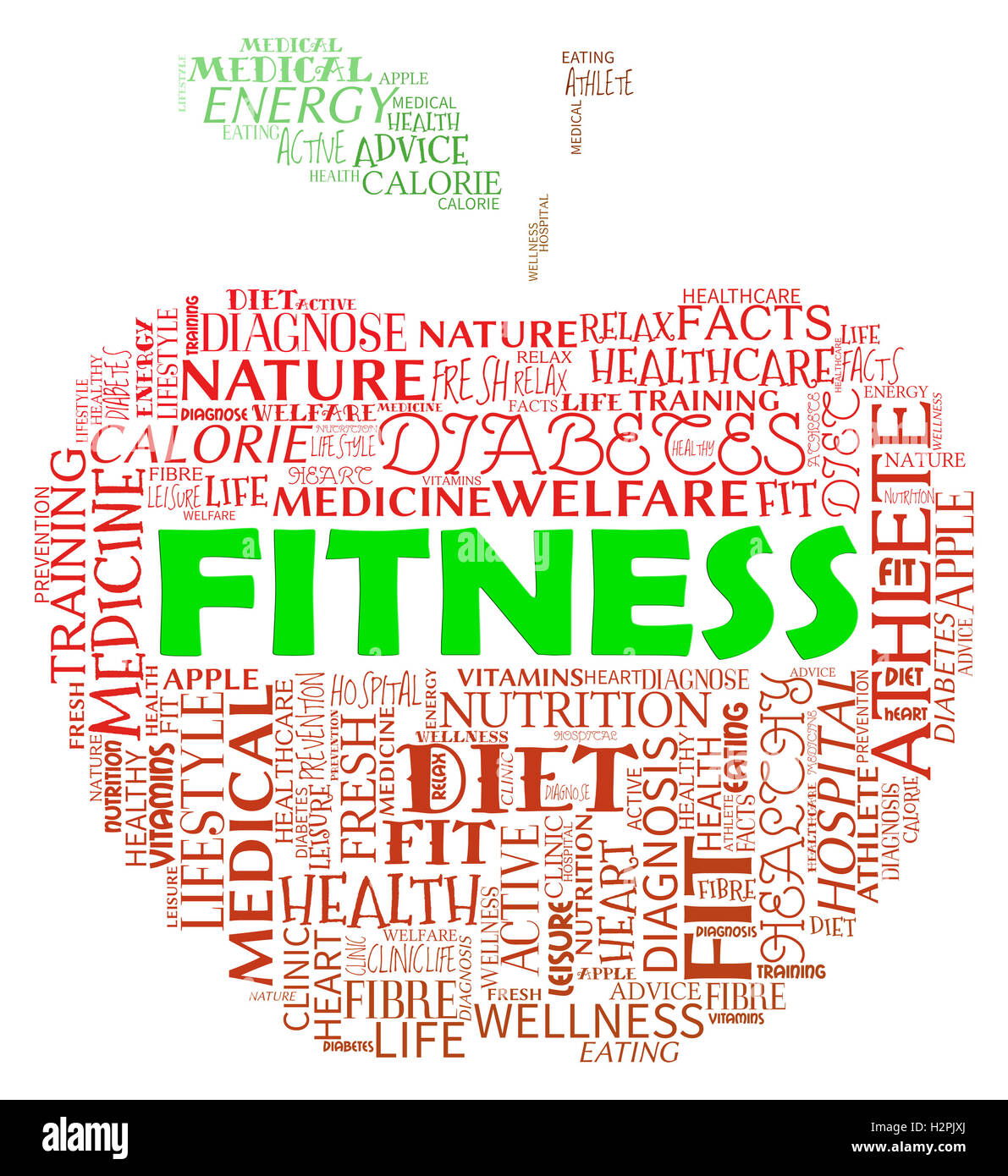 9f367af539e Fitness Apple Meaning Physical Activity And Exercising Stock Photo ...