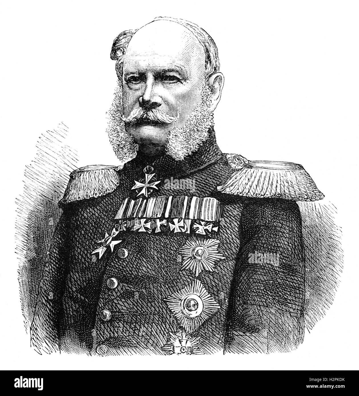 William I (1797 – 1888), was King of Prussia from 1861 – until his death. He was the first German Emperor (1 January - Stock Image