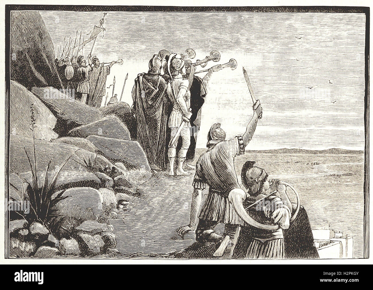 AN INCIDENT IN THE JUGURTHINE WAR - from 'Cassell's Illustrated Universal History' - 1882 - Stock Image