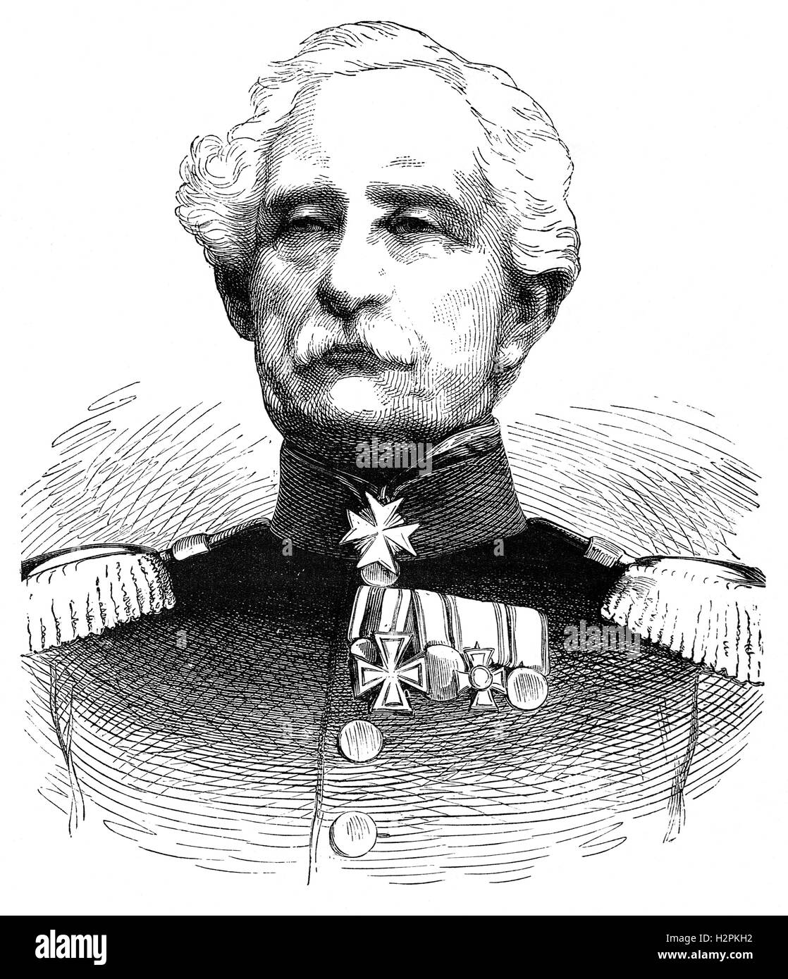 Karl Friedrich von Steinmetz 1796 – 1877) was a German General and Field Marshal. He was promoted General of infantry - Stock Image