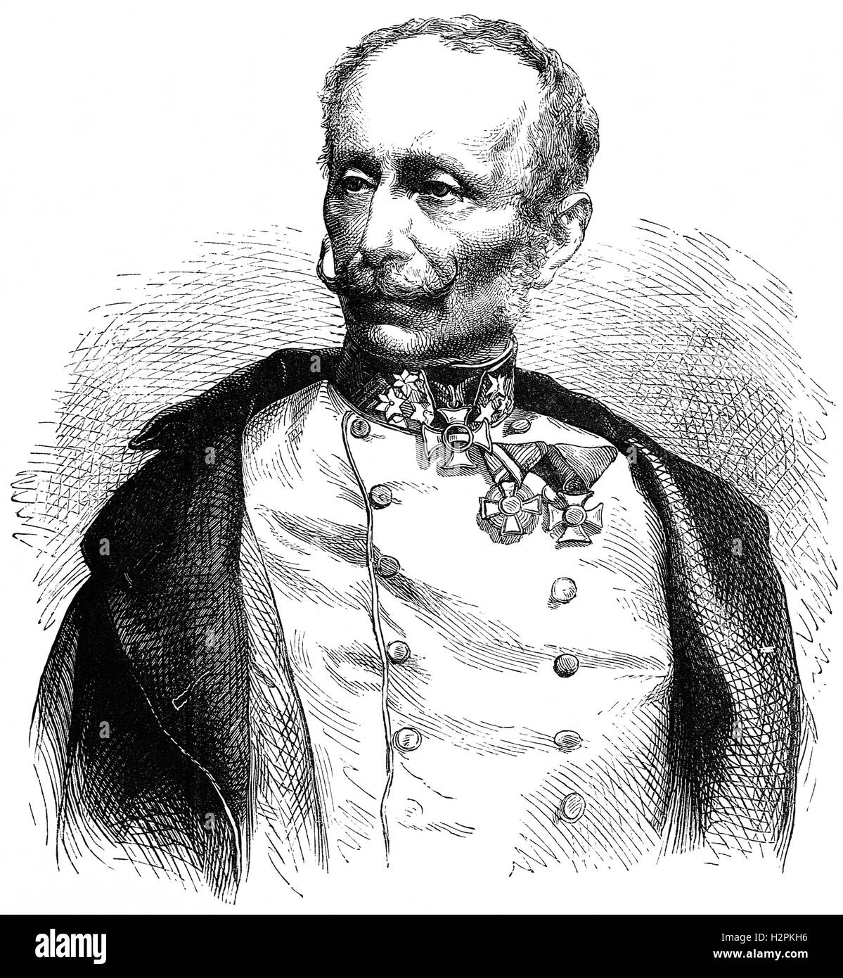 Ludwig August Ritter von Benedek (1804 – 1881) was an Austrian general (of Hungarian descent, best known for commanding - Stock Image