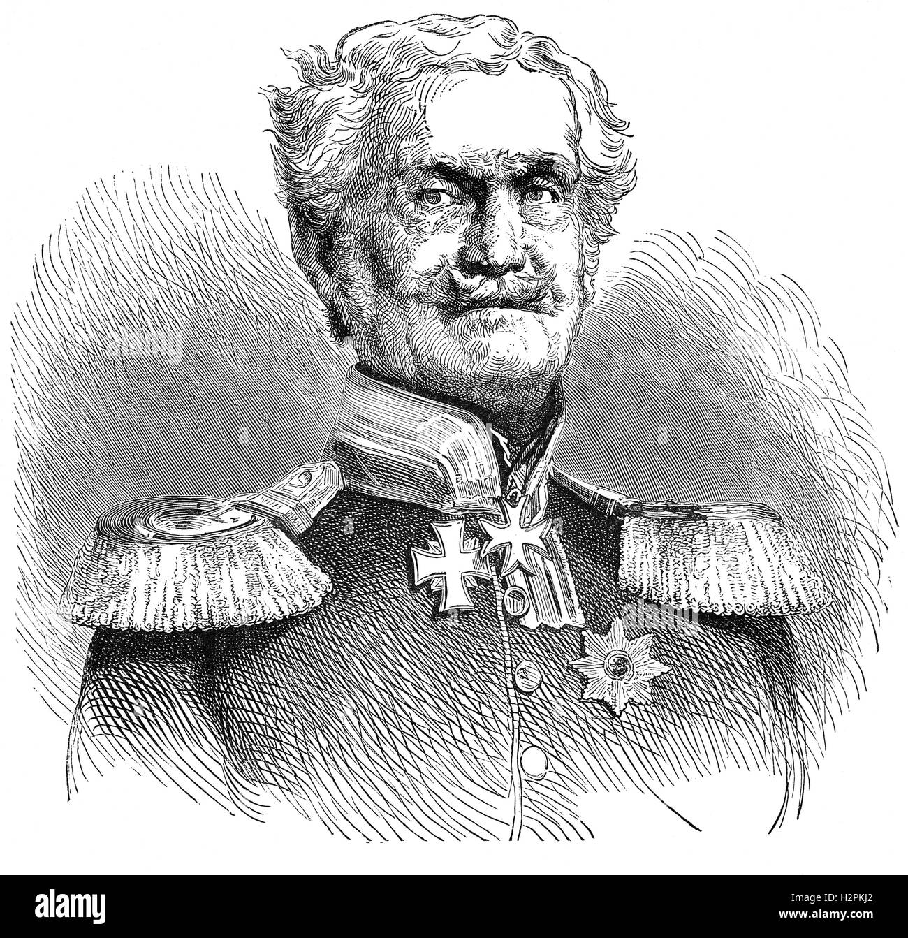 Friedrich Heinrich Ernst Graf von Wrangel (1784 – 1877) was a Generalfeldmarschall of the Prussian Army. He was - Stock Image