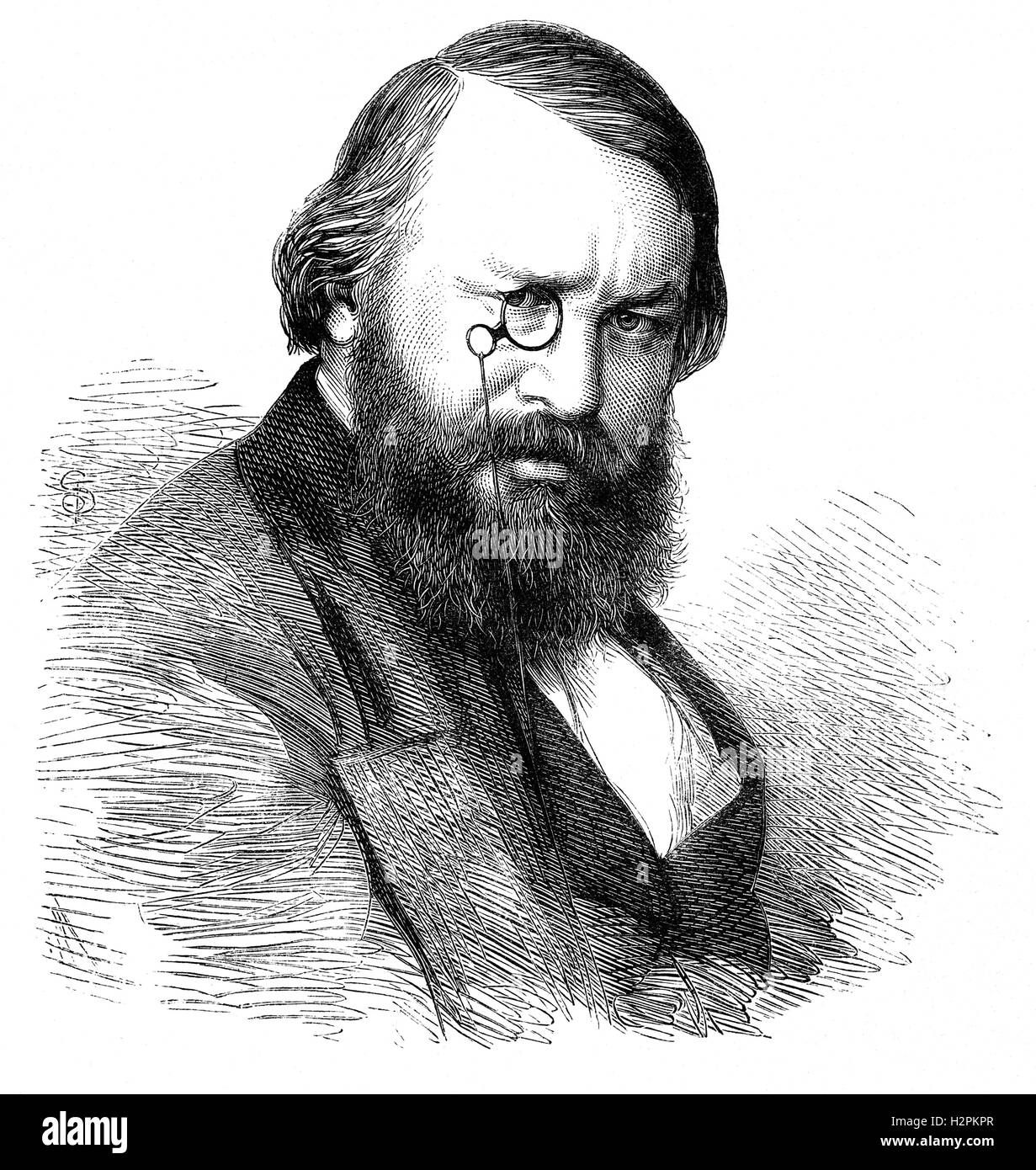Sir Alexander James Beresford Beresford Hope PC (1820 –1887), known as Alexander Hope was a British author and Conservative Stock Photo