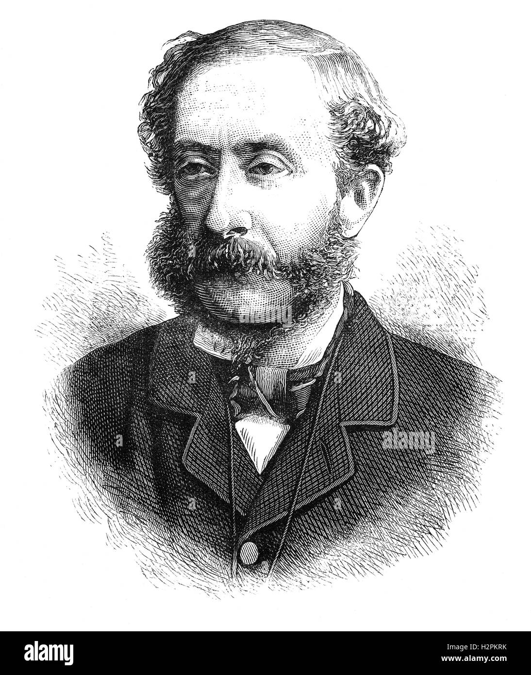 Henry Howard Molyneux Herbert, 4th Earl of Carnarvon (1831 – 1890), was a British politician and a leading member - Stock Image