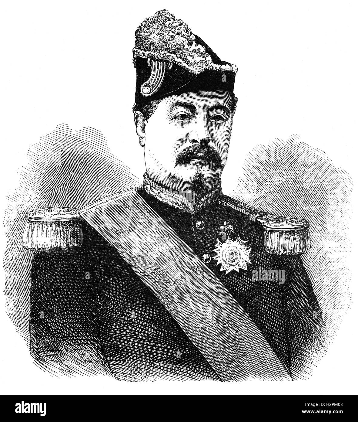 François Achille Bazaine ( 1811 – 1888) was a French general and from 1864, a Marshal of France, who surrendered - Stock Image