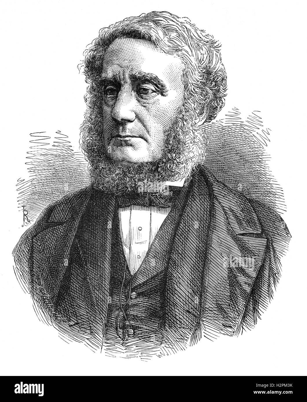 Edward Cardwell, 1st Viscount Cardwell, (1813 – 1886) was a prominent British politician in the Liberal party during - Stock Image