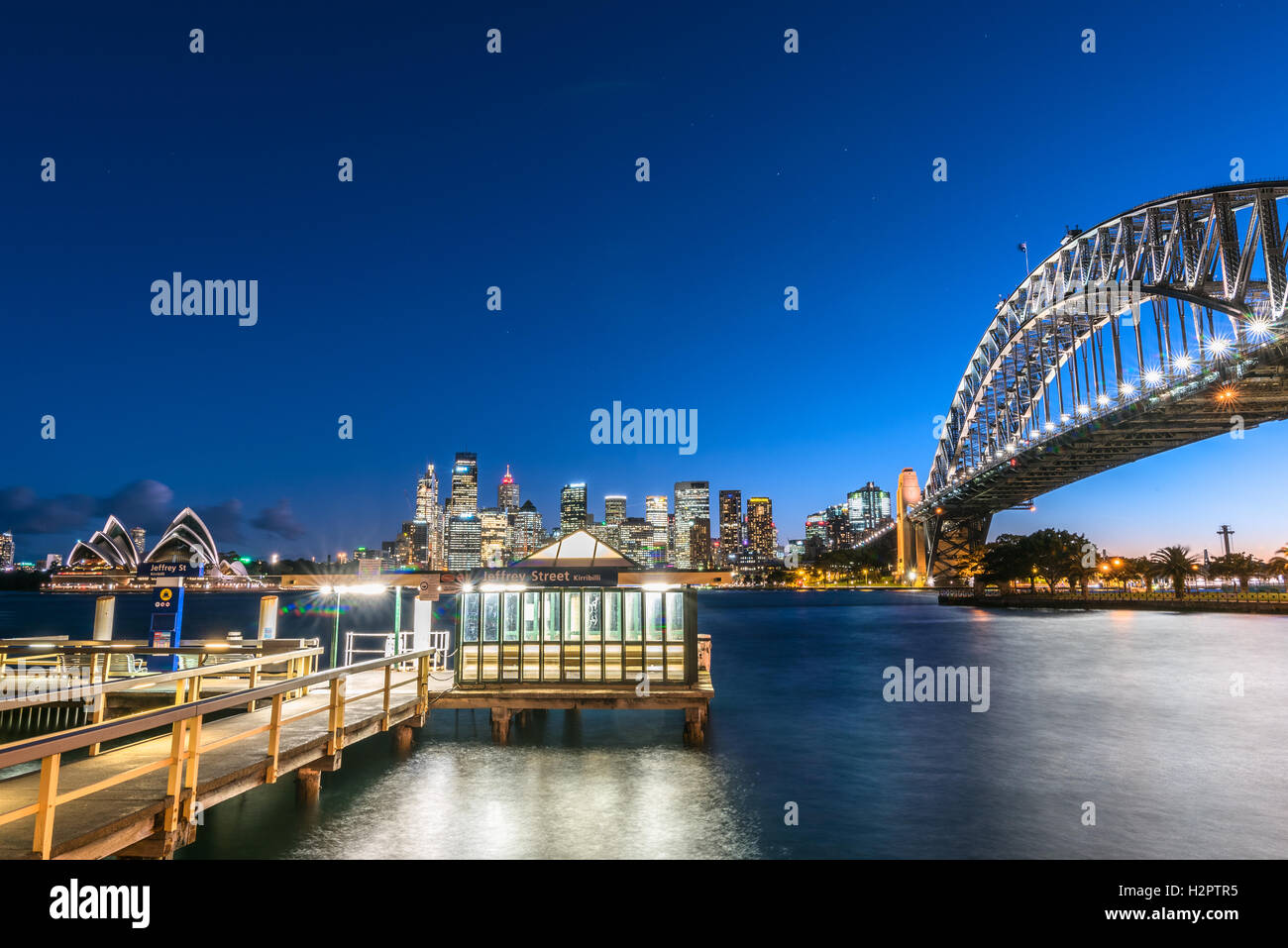 Jeffrey Street Pier, Sydney Harbour - Stock Image