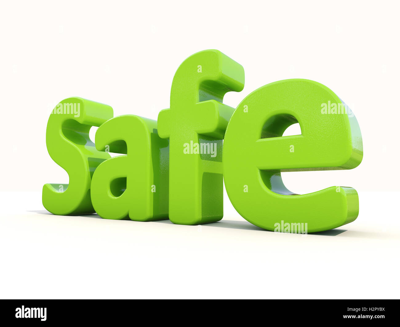 3d word safe - Stock Image