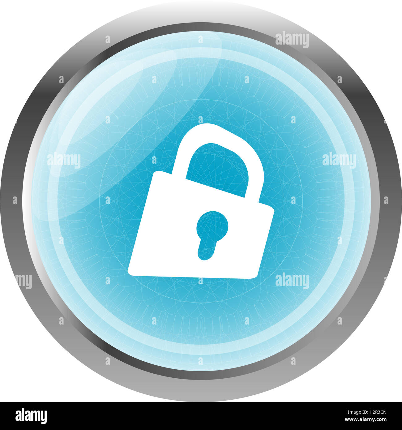 Padlock icon web sign. web app button isolated on white - Stock Image