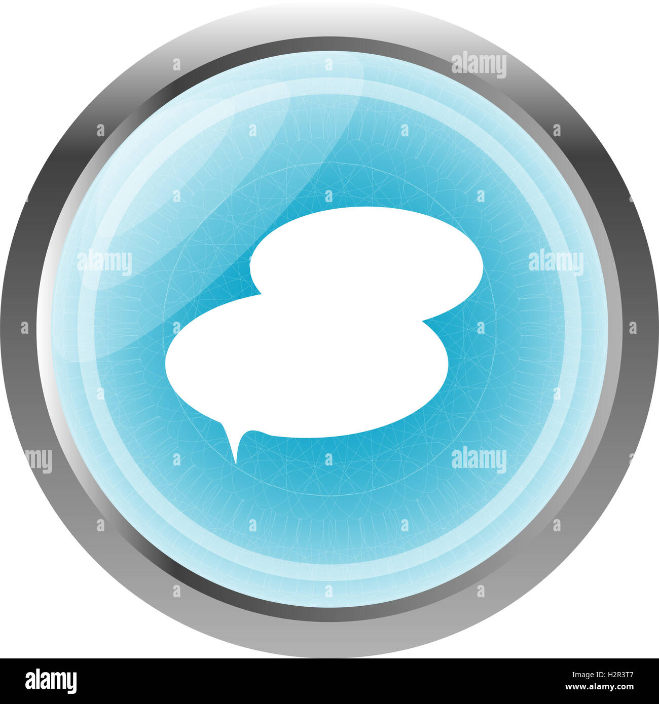 speech bubble web app button icon isolated on white Stock