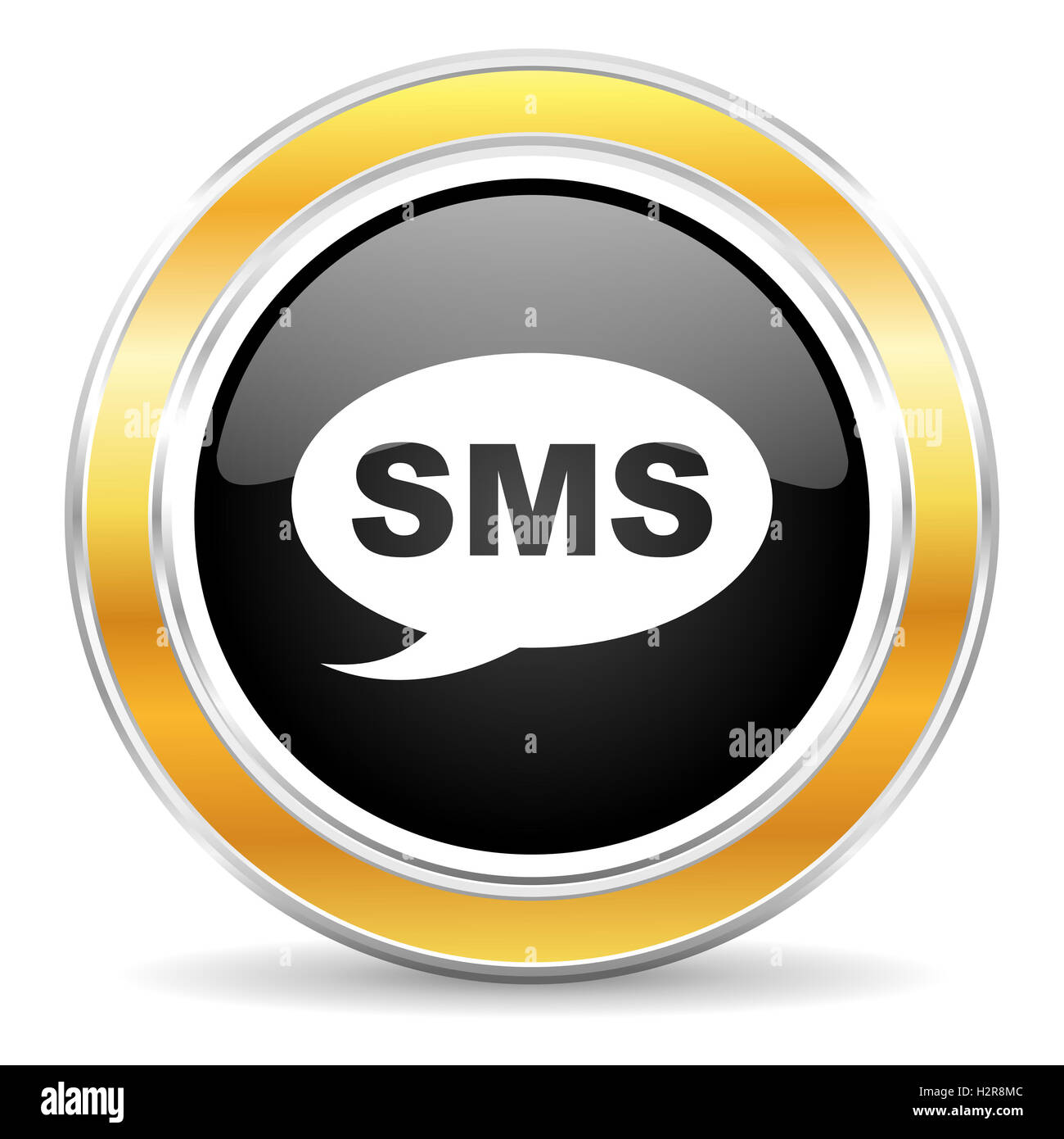 sms icon - Stock Image
