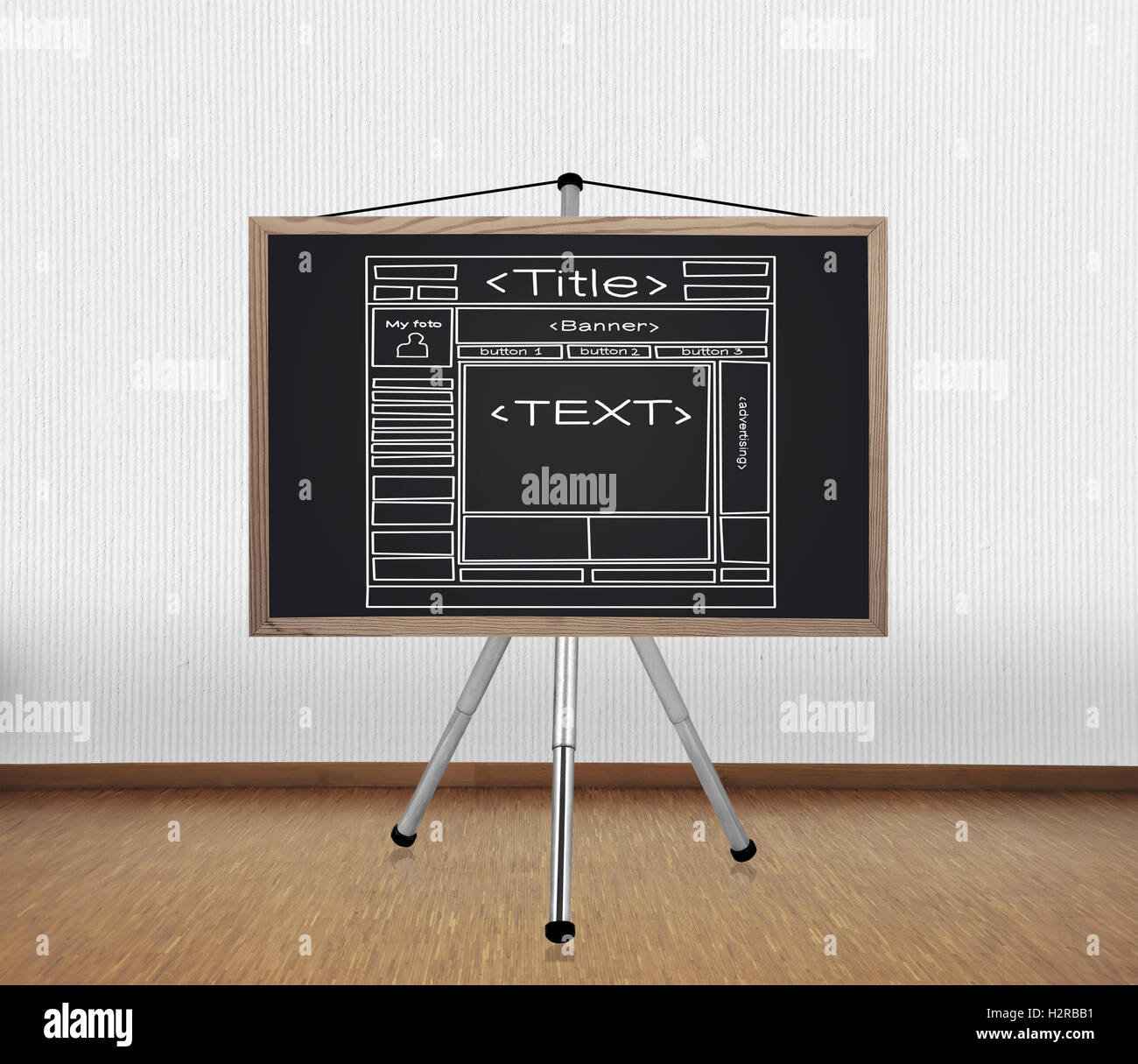 blackboard with template website Stock Photo: 122215717 - Alamy